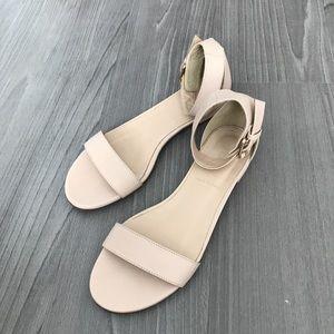 J crew maya ankle strap sandal in nude pink